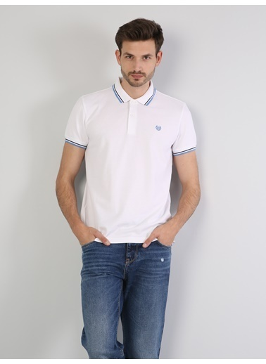 Colin's Polo Yaka Tişört Beyaz